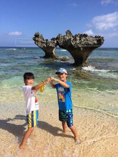 海,青空,沖縄,ハート,ホリデー