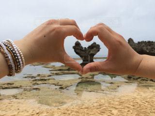 自然,沖縄,ハート,岩,パワースポット