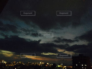 空,夜,街,町