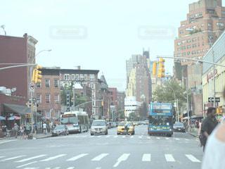 マンハッタンの交差点の写真・画像素材[1003875]