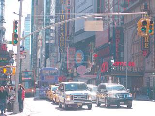 マンハッタンの街中の写真・画像素材[1005373]
