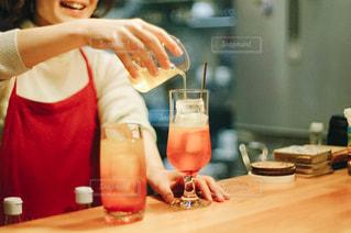 オレンジのクリームソーダの写真・画像素材[2811990]