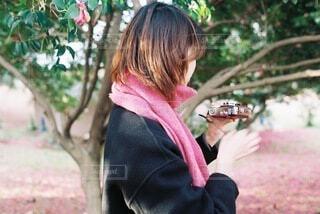 ピンクのマフラーの写真・画像素材[4073684]