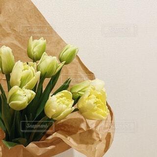 チューリップの花束の写真・画像素材[4166036]