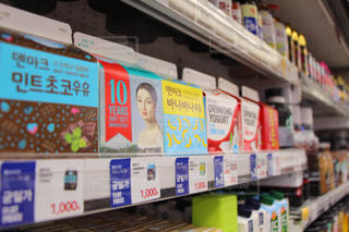 飲み物,風景,屋外,海外,かわいい,旅行,旅,コンビニ,韓国,ソウル,ハングル,おしゃれ