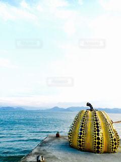 水の体の横に立っている人の写真・画像素材[770515]