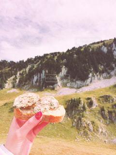 ドーナツを食べる人の写真・画像素材[786263]