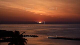 風景,海,空,夏,屋外,太陽,ビーチ,雲,水面,海岸,光,日の出,熱海,陽光,ご来光