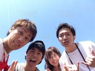 20代,公園,笑顔,琵琶湖,みんなで笑顔