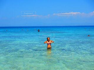 海,空,ビーチ,島,水着,旅行,フィジー,楽園