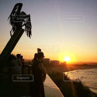 海,空,夕日,絶景,ビーチ,オーストラリア,サンセット,ゴールドコースト