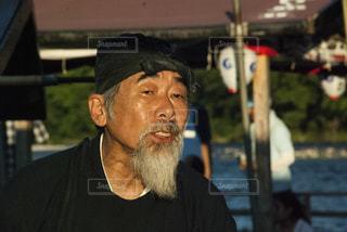 帽子をかぶった男の写真・画像素材[719899]