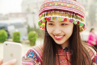 旅行,笑顔,ベトナム,彼女