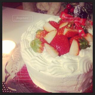 ケーキ,いちご,苺,キャンドル,クリスマス,リース,手作り,イチゴ,聖夜