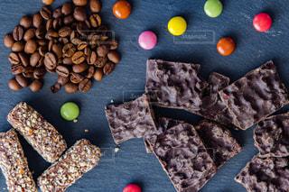 チョコレートプレートの写真・画像素材[2019349]