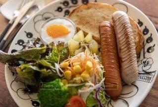 朝食,ワンプレート,テーブルフォト,モーニング,ソーセージ,ブランチ,ワンプレートごはん,あさごぱん,ジョンソンヴィル