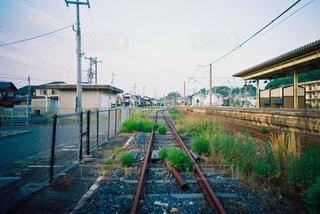 糸島の線路の写真・画像素材[720177]