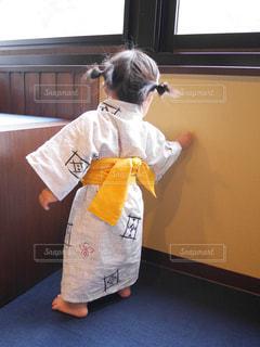 人生初の浴衣の写真・画像素材[1421613]