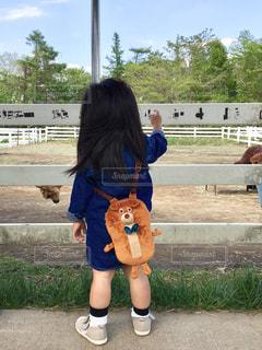 立っている小さな女の子の写真・画像素材[2390242]
