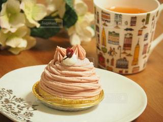 スイーツ,桜,ケーキ,ピンク,おやつ,紅茶,モンブラン,桜モンブラン