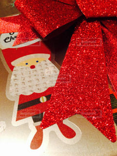 赤,プレゼント,リボン,クリスマス,サンタ,ステッカー,ダイソー,Buon natale