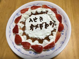 皿にデザートのケーキの写真・画像素材[901460]