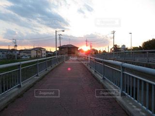 橋,夕焼け,埼玉県,さいたま市