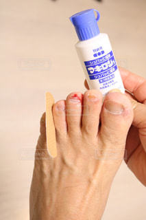 足,医療,怪我,足の指,絆創膏,バンドエイド