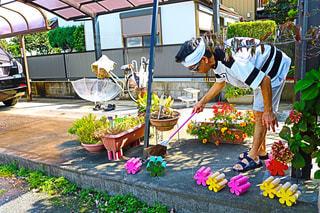 庭園の人々 のグループの写真・画像素材[795295]