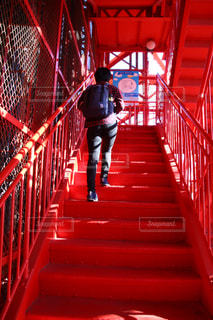 建物,東京タワー,階段,赤,休日,お出かけ