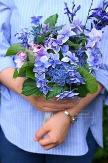 花束,紫陽花,ブーケ,梅雨