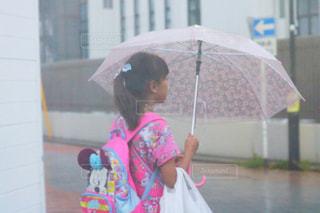 雨,傘,女の子,梅雨