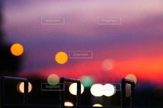 夜の街の景色の写真・画像素材[1268868]