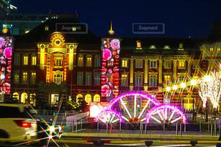 東京駅,イルミネーション,ピンクだらけ