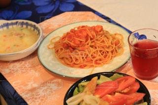 パスタ,サラダ,夕飯,食欲の秋,自宅ご飯,蟹のパスタ