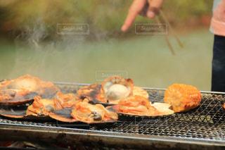 バーベキュー,BBQ,トウモロコシ,ホタテ,食欲の秋