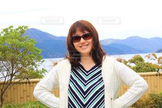 女性,観光,旅行,箱根,セミロング,ゆるふわパーマ