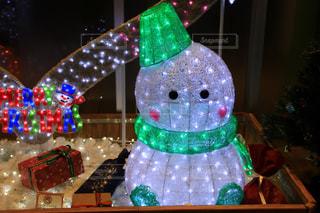白,イルミネーション,ライトアップ,クリスマス,雪だるま,ホワイトカラーフォト