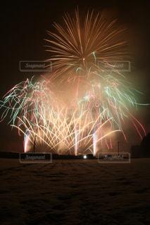 夜空の花火の写真・画像素材[1782416]