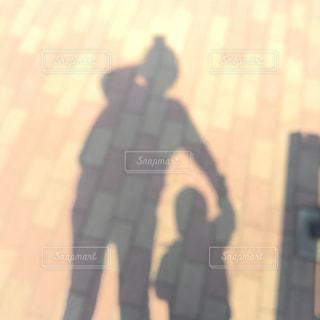 親子,散歩,影,ママと子供