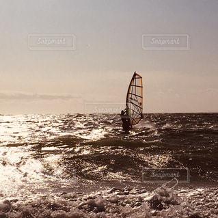 黄金のウィンドサーフィンの写真・画像素材[3022483]