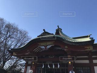 寺 正月 初詣 空 お参りの写真・画像素材[301293]