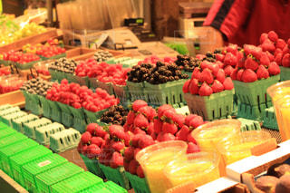 いちご,フルーツ,果物,市場,イチゴ