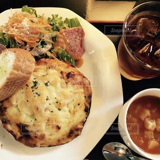 カフェ,ランチ,スープ,サラダ,セット,ミートパイ