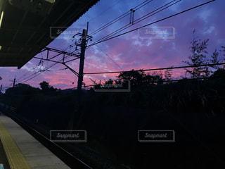 風景,空,夕日,夜,駅,綺麗,夕焼け,景色,夕陽,Sky,beautiful,station