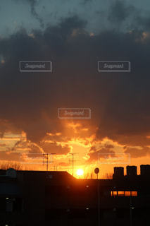風景,空,夕日,夜,太陽,綺麗,夕焼け,景色,オレンジ,夕陽,Sky,beautiful,橙,station
