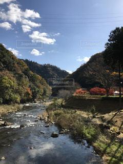 背景の山と水体の写真・画像素材[883201]
