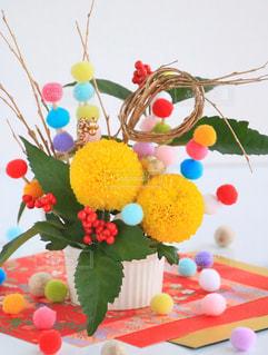 花,カラフル,フラワーアレンジメント,鮮やか,正月,装飾,生け花,菊,正月飾り,菊の花