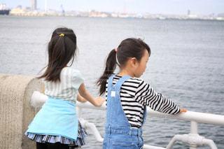 水の体の少女の写真・画像素材[1047921]