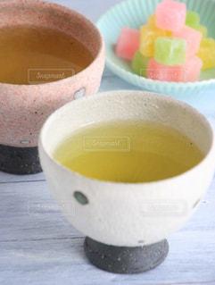 休憩,癒し,急須,ティータイム,お茶,テーブルフォト,緑茶,日本茶,グリーンティー,湯呑み,湯のみ,砂糖菓子